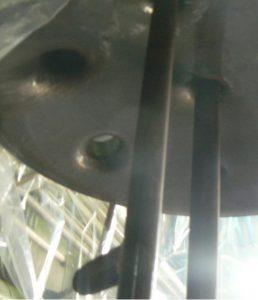 重曹ブラストによる反応槽の清掃メンテナンス 施工前